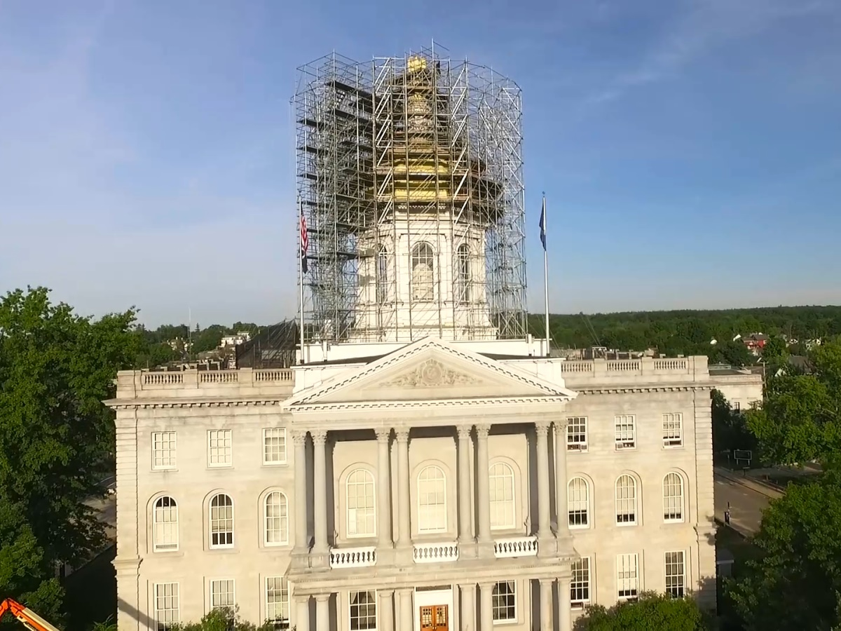 New Hampshire State House Scaffolding Project Seacoast