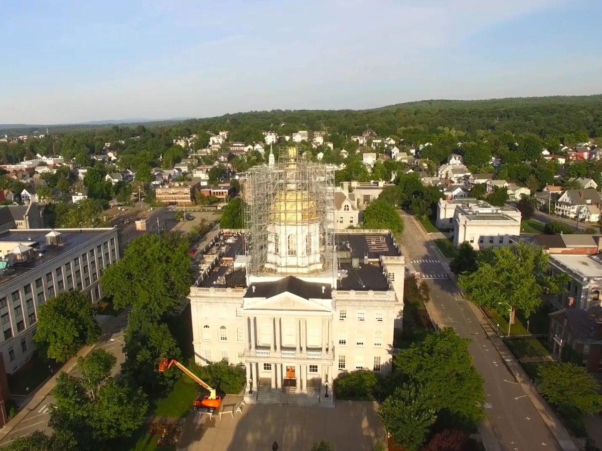 New Hampshire State House Scaffolding Project