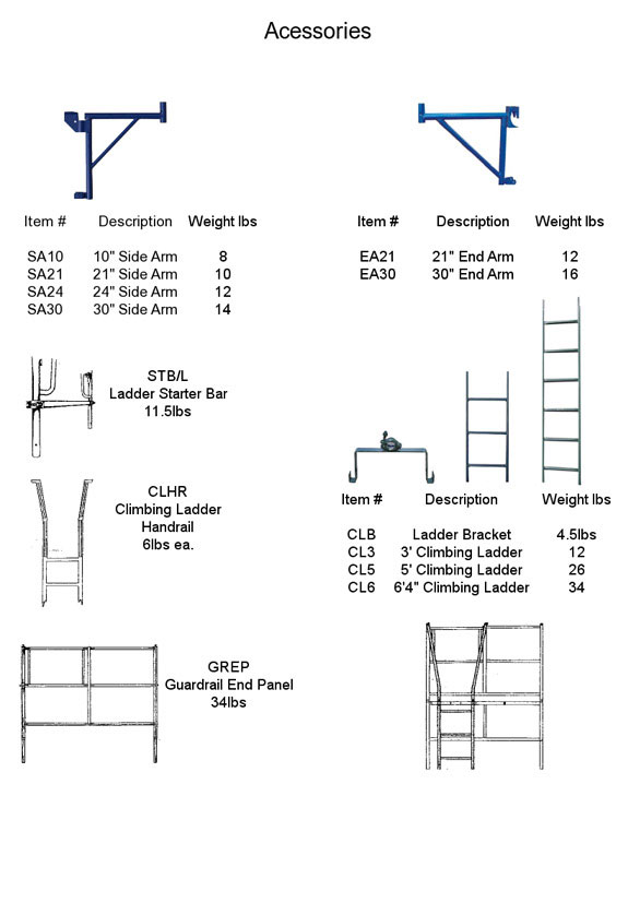 Frame And Brace Scaffolding Amp Accessories Seacoast Scaffold