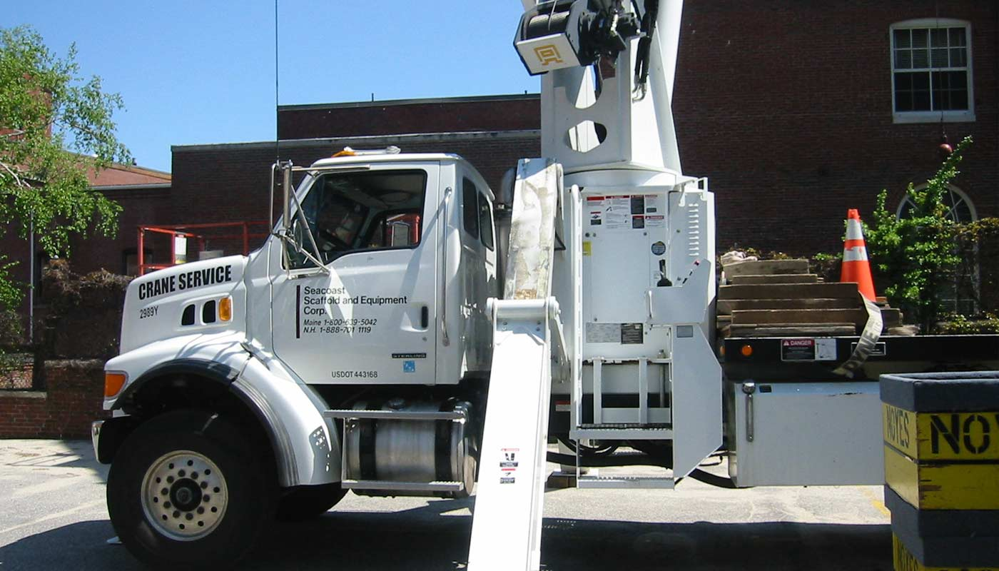 Crane Services throughout New England - Seacoast Scaffold